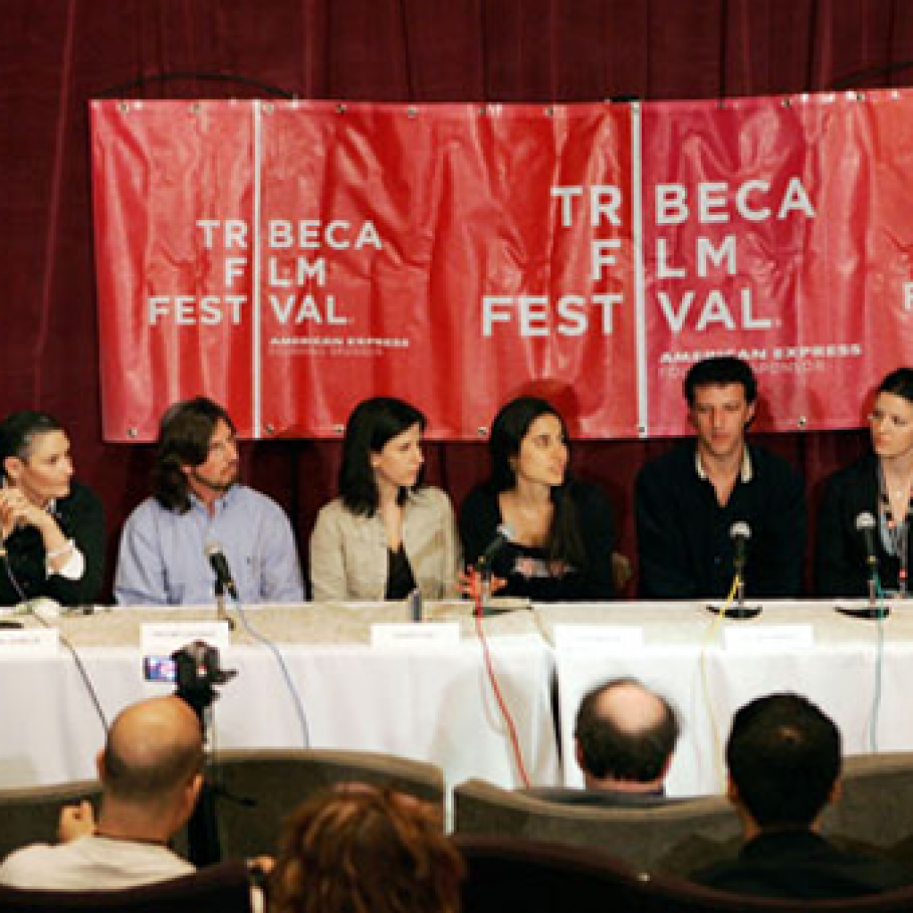 PRESS CONFERENCE AT THE TRIBECA FILM FESTIVAL